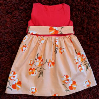 Orange clivia dress