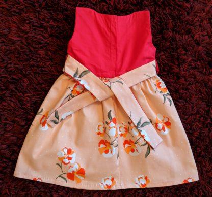 Orange clivia dress