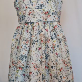 White wildflower meadow dress