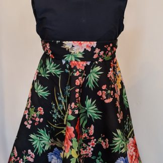Black wild flower dress