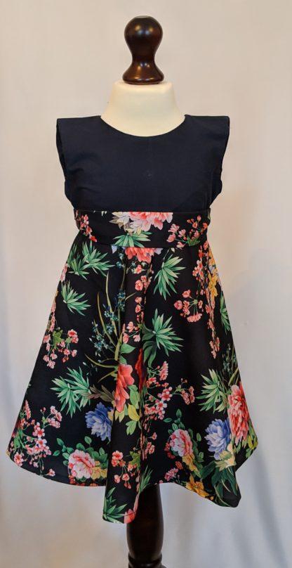 Black wild flower dress