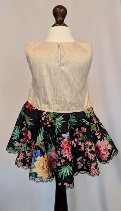 Gold and black wild flower top