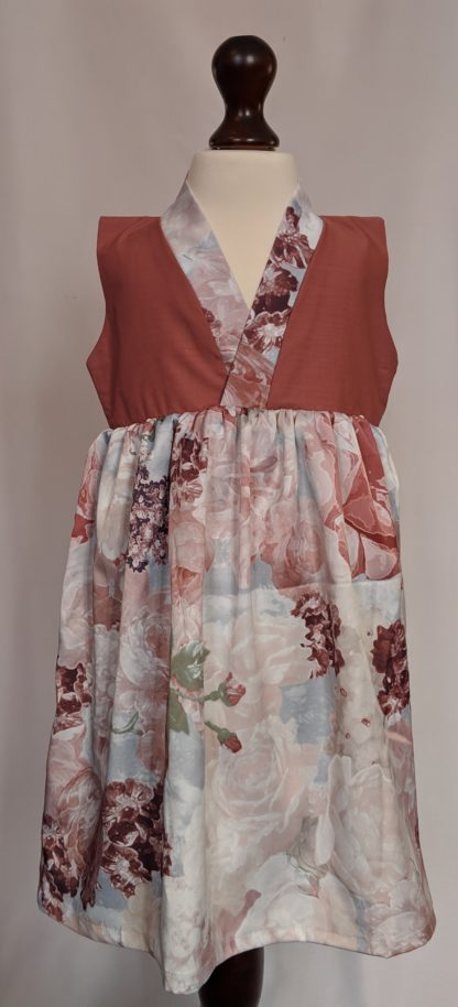 Light pink peony dress