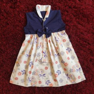 Blue blossom print dress