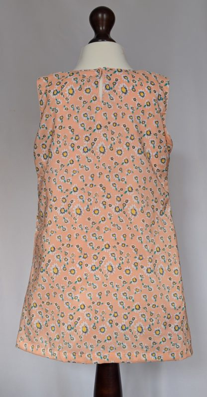 Peach and white daisy dress