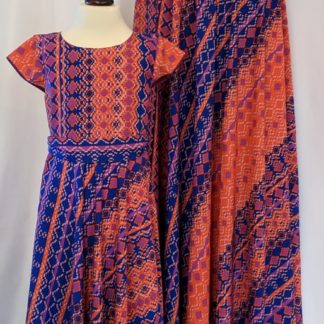 Tribal print dress and maxi skirt