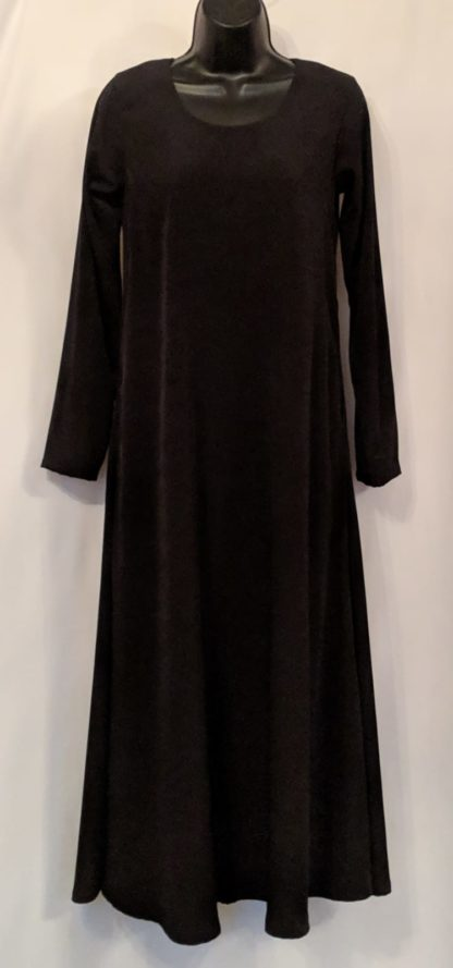 Black abaya with pockets