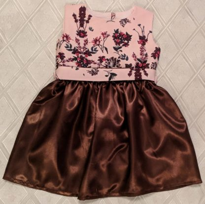 Brown silky dress