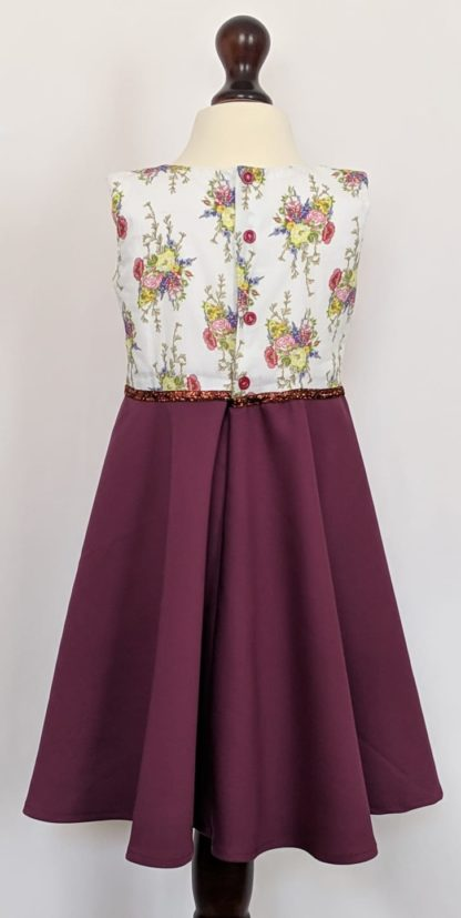 Floral maroon summer dress