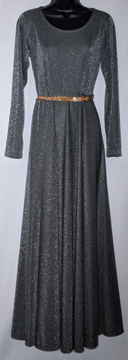 Grey sparkle maxi dress