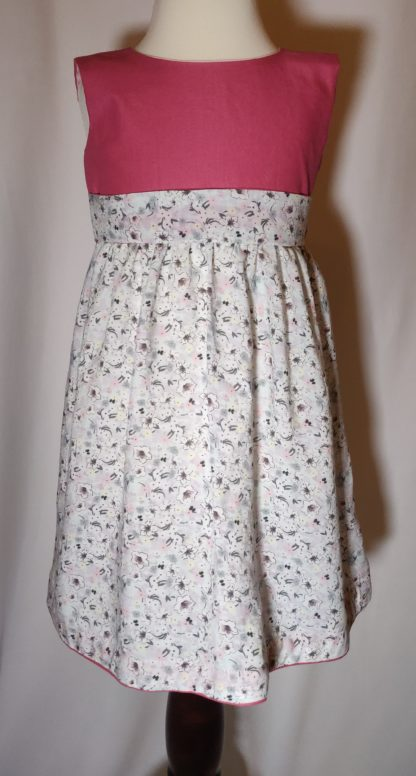 Floral pink and white dress