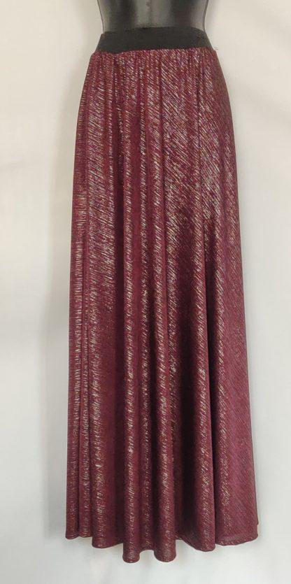 Maroon sparkle maxi skirt