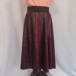 Maroon sparkle girl skirt