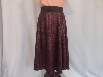 Maroon sparkle girl skirt