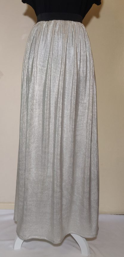 Pale gold maxi skirt
