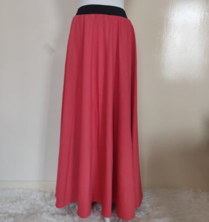 Coral Jersey Skirt