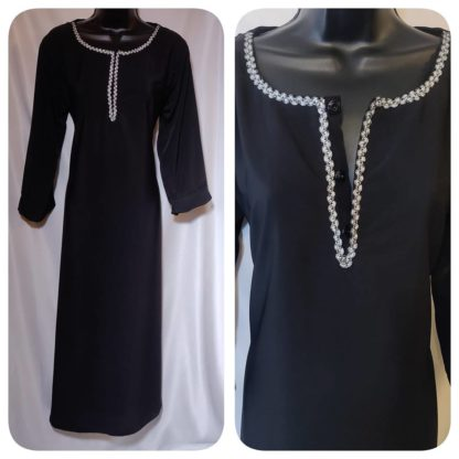 Open button Abaya