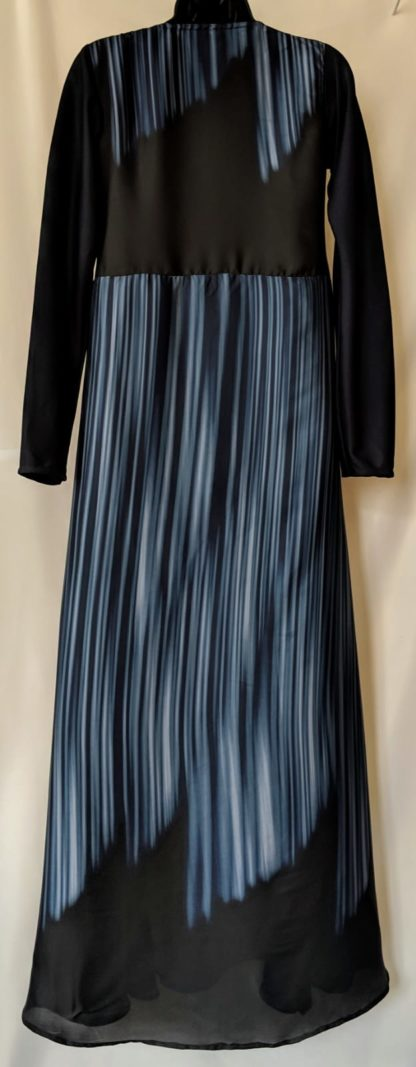 Blue stripe abaya dress