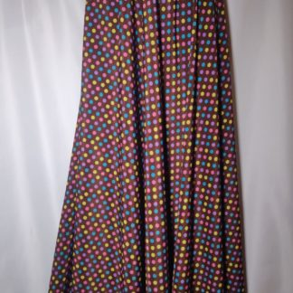 Colourful palette maxi skirt