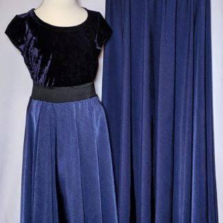 Midnight blue maxi skirt set