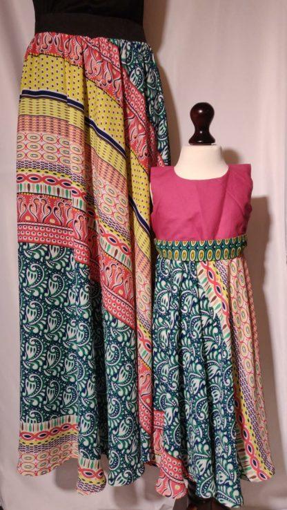 Multi coloured maxi skirts
