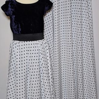 White Polka maxi skirts