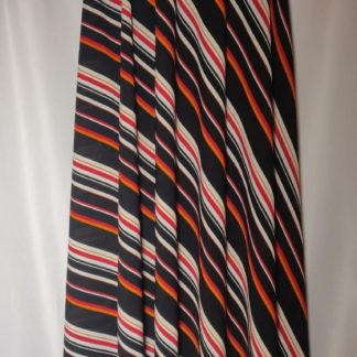 Orange stripe maxi skirt