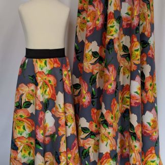 Large floral maxi skirt set