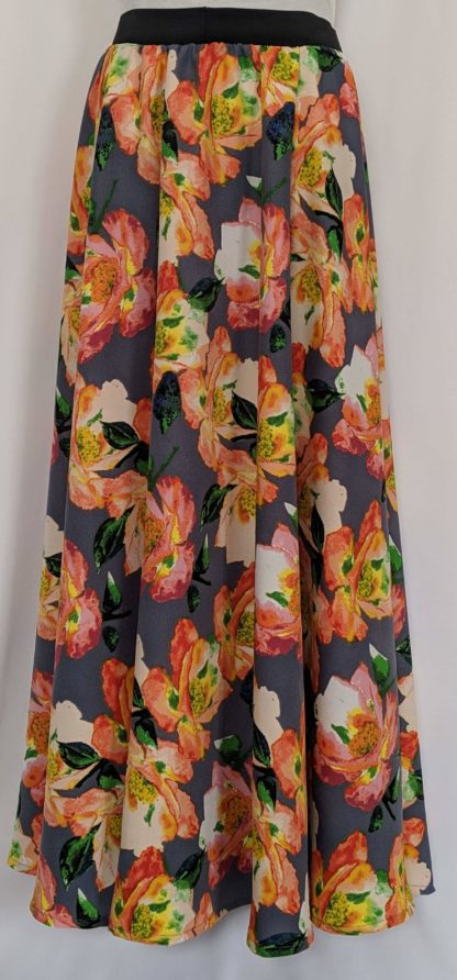 Large floral maxi skirt