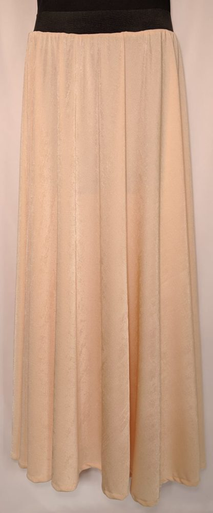 Nude shimmer maxi skirt