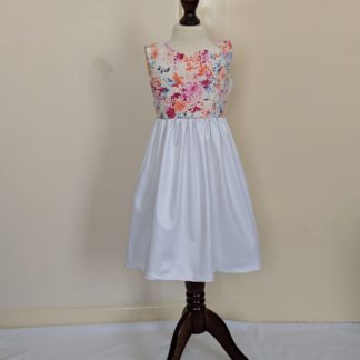 Pastel floral girls dress