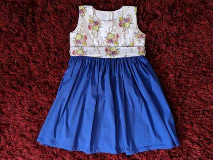 Dark blue bouquet dress