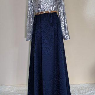 Deep golden night sky maxi dress