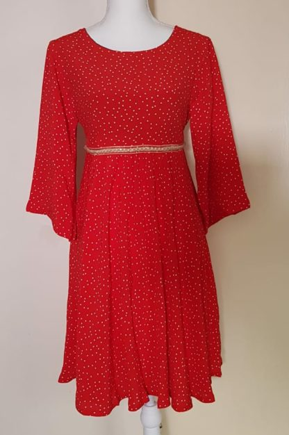 Red polka dress