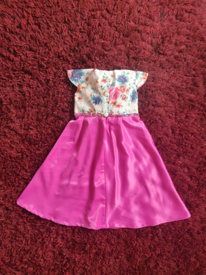 Hot pink floral maxi dress