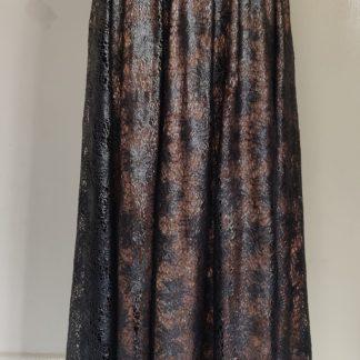 Plain silver maxi dress