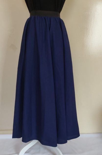 Navy winter maxi skirt