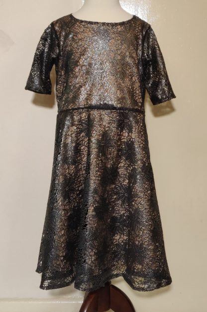 Graphite lace dress