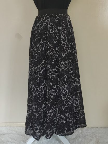 Black sequins maxi skirt