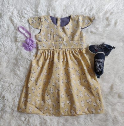 Lemon cotton dress