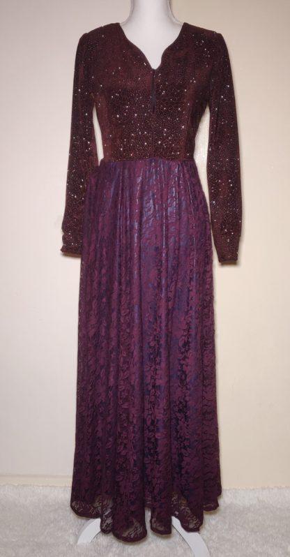Plum maxi dress