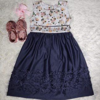 Multicoloured pastel floral dress