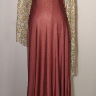 Deep gold plum maxi dress