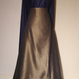 Silver sequins and navy maxi skirt