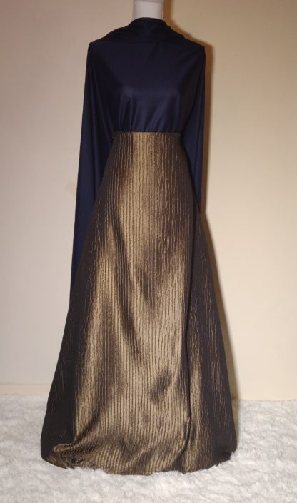 Deep golden night sky maxi dress