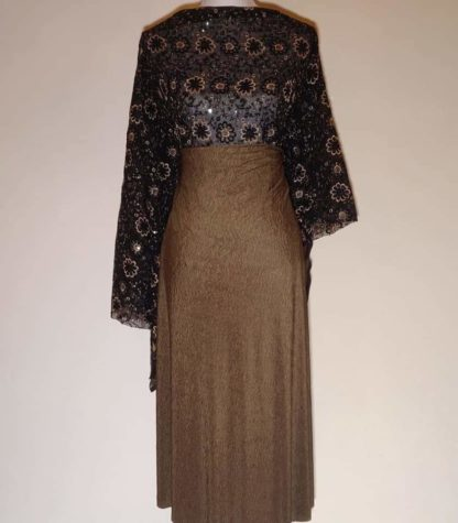 Floral lace with khaki