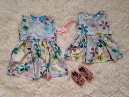 Large floral patterned twin dress
