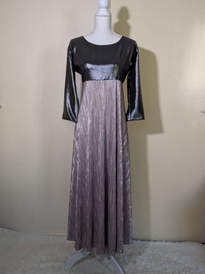 Silver and candy pink maxi dress