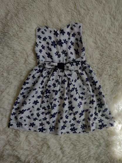 White and navy floral dress