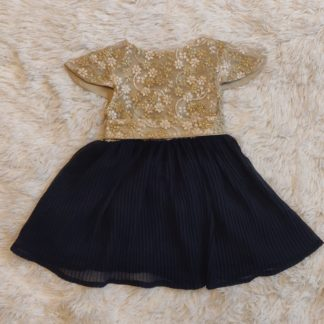 Gold lace and plum skirt